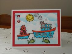 Boatloads of Love for my Dad by rokale - Cards and Paper Crafts at Splitcoaststampers