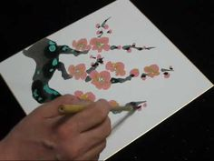 great demo of cherry blossom painting 3:39
