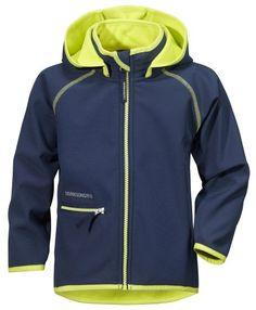 Didriksons Freneka jakke Softshell-jakke med hette, glidelåslomme og tynn fleece på innsiden.