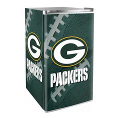 Creating the ultimate sports-themed man cave or game room comes down to the accessories it holds. The perfect sofa or recliner plus a fridge stocked with all your favorite snacks and beverages. The Green Bay Packers mini fridge is the perfect game day assistant.
