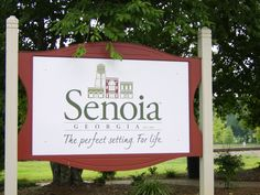 Entrance into Beautiful Senoia, GA