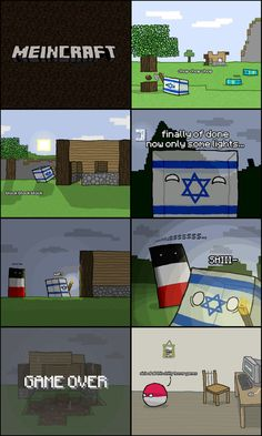 Meincraft- Countryballs ( Poland Germany Israel )