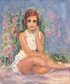 Charles Camoin - Portrait d'une jeune fille assise