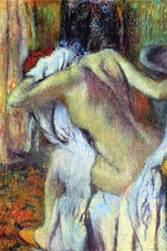 After Bathing, by Edgar Degas, 12x18-inch Paper Giclée by ArtParisienne