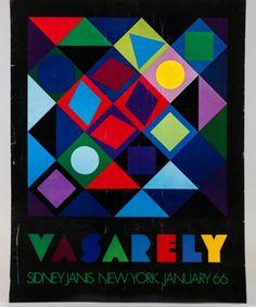 Victor-Vasarely-Vintage-New-York-Art-Exhibition-Poster-1966