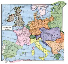 Europe at the end of the Franco-Prussian War, 1871