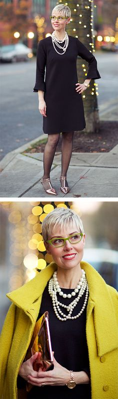 Modern Retro For the Holidays Sew In Hairstyles, Hairstyles With Glasses, Black Women Hairstyles, Ageless Beauty, Short Styles, Sexy Shorts, Fashion Over 40, Black Is Beautiful, Well Dressed
