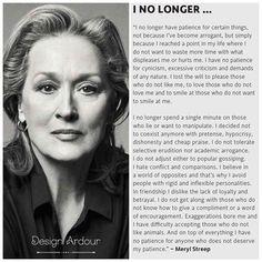 Meryl Streep | I No Longer