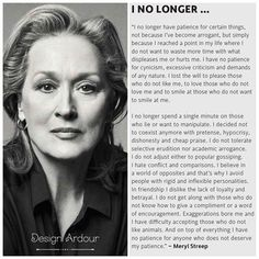 Meryl Streep | I No Longer