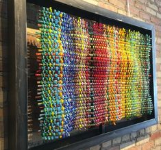 Woven glass art seen at Art Fair on the Square in Madison WI July 2016 by artist Mark Lewanski