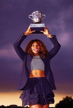 Serena Williams wins the 2013 French Open! Congratulations Serena!