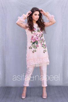 AsifaandNabeel Pakistani Formal Dresses, Pakistani Dress Design, Pakistani Outfits, Indian Dresses, Indian Outfits, Women's Fashion Dresses, Casual Dresses, Simple Dresses, Eastern Dresses