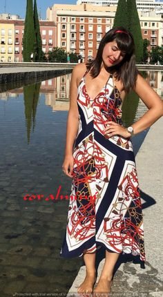 8762426f ZARA NEW HALTER NECK LONG MAXI PRINTED DRESS SIZE M   eBay