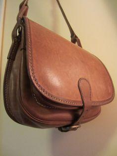 Vintage Leather Saddle Bag - Large Brown Shoulder Bag - Boho Style Accessory - Long Strap - Unisex Bag