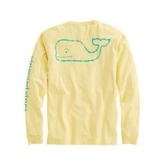 Shop Long-Sleeve Vintage Graphic T-Shirt at vineyard vines ($42) ❤ liked on Polyvore featuring tops, t-shirts, cotton tee, long sleeve cotton t shirts, vintage t shirts, pocket t shirts i vintage graphic t shirts