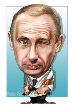 Vladmir Putin -illustration of Romeo Raileanu