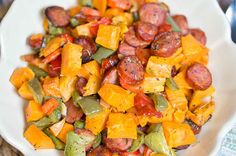 roasted veggetables and sausage