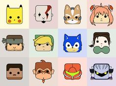 Image result for chibi video game characters