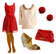 Gryffindor inspired outfit. Cute.