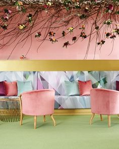 Plush textures, rich colours and the rose canopy helped to create a special, luxurious environment for lucky punters.