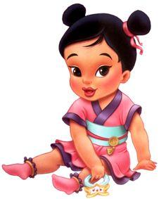 Disney Princess Photo: Little Mulan Disney Princess Babies, Disney Babys, Cute Disney, Disney Girls, Disney Art, Animated Disney Characters, Baby Disney Characters, Disney Movies, Princesa Mulan