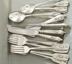 Antique Silver Sentiment Flatware - $31.50