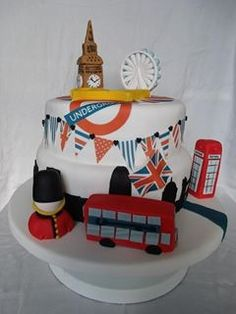 Cakes for birthday in london British Cake, British Party, London Party, London Cake, Biscuit Cookies, Cake Cookies, Fun Cupcakes, Cupcake Cakes, British Themed Parties