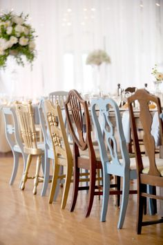 Whimsical chairs: http://www.stylemepretty.com/2013/11/13/minnesota-wedding-from-emily-steffen-photography/ | Photography: Emily Steffen - http://emilysteffen.com/