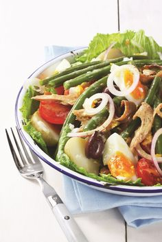 Salad recipe: Salade Niçoise hails from Nice in the South of France. Traditionally featuring tuna, olives, capers and tomatoes, the recipe can be adapted to suit your tastes. This dish is perfect for summer!
