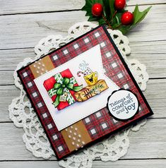 Cozy Cupfuls stamp set by Power Poppy, card design by Julie Koerber. Sugar Plums Dancing, Poppy Images, Poppy Shop, Days Before Christmas, Im Mad, Digital Stamps, Wonderful Things, Some Fun, Candy Cane
