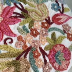 Indian hand embroidery, chain stitch