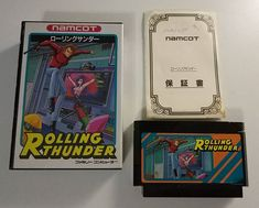 Nintendo Famicom: Rolling Thunder (JAP)  And last but not least the first part of the series in this backward review of the RT series.  Never played the Famicom version but mostly the Sinclair Spectrum one. I liked when the bad guys from Geldra tried to punch you without success while crouched. It was a laugh . As for this edition I love the artwork. Looks pretty much like the Mazinger Z series. Japanese people are great for this . Question: Why Namcot in Japan and Namco in Europe? Guess I…