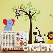 African Safari Wall Decals – Jungle Wall Stickers – evgie