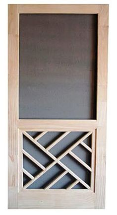 Chippendale Panel Wood Swinging Screen Door 32  W x 80 H at Menards Favorite Green For the Home