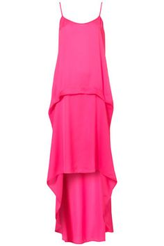 I want this Tall Fluro Dip Hem Dress from Topshop. Now I just need somewhere to wear it...
