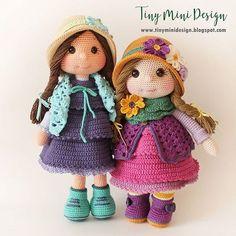 Amigurumi Tini Mini Kız Yapılışı-Free Pattern Tini Mini Dolls - Tiny Mini Design