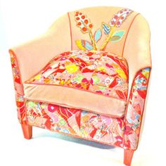 Happy Chair's Cotton Candy now featured on Fab.  These chairs are flying off the shelf like crazy. Now $1,035.  Love the exciting patterns and inspired details made from reconstructed fabrics
