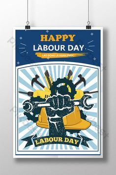 Posters celebrating international labor day are happy Easter Templates, Labour Day, Letterhead Design, Happy Labor Day, Work Tools, Happy Women, New Words, Happy Easter, Typography