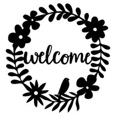 Silhouette Design Store: welcome wreath