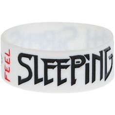 Sleeping With Sirens Feel Rubber Bracelet | Hot Topic ($25) ❤ liked on Polyvore featuring jewelry, bracelets, accessories, band merch, rubber jewelry and rubber bangles