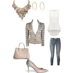 Untitled #13 by sweeth2ochild on Polyvore featuring polyvore, fashion, style, Forever New, Chanel, Paige Denim, Gianvito Rossi and Louis Vuitton