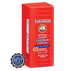 It takes at least nine long months for Tillamook Sharp Cheddar to reach full-bodied sharpness. - Cooks Illustrated