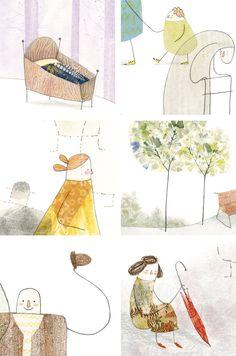 © Diana Toledano. A Sneak Peek: Growing Up. Children's illustration