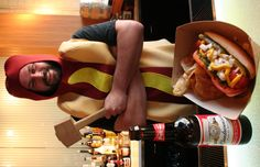 Chicago Dog served by your favorite hot dog! Restaurant Specials, Hot Dogs, Your Favorite, Hamburger, Chicago, Mexican, Ethnic Recipes, Food, Hamburgers