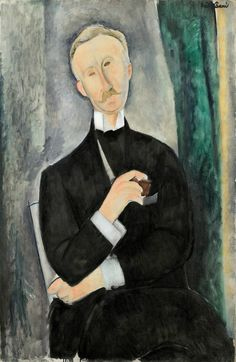 Amedeo Modigliani, Portrait de Roger Dutilleul, juin 1919. Huile sur toile 100,4 x 64,7 cm. Collection particulière, États-Unis. Photo : Sotheby's / Art Digital Studio.