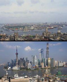 Shangai, 26 años entre las dos fotos