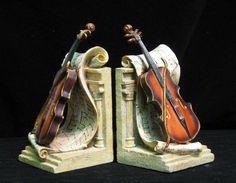 Violin Book Ends
