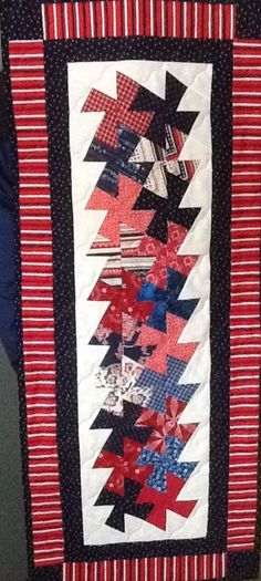 Patriotic table runner number one. For Janine and jim