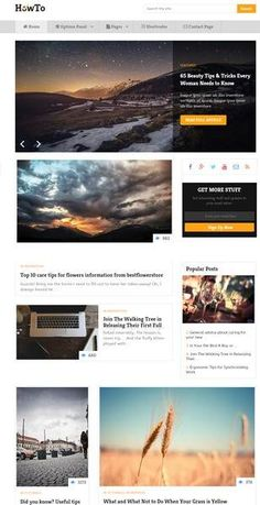 Meet HowTo by MyThemeShop : A professional blog WordPress theme dedicated to provide you best reading experience. How To WordPress Theme is made from respo