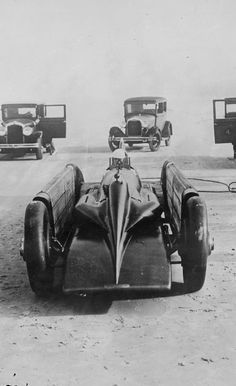 The Golden Arrow is a futuristic car from the past